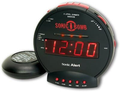 sonic bomb loud alarm clock with bed shaker