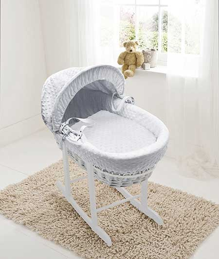 White-Dimple-Moses-Basket-With-Rocker-Review
