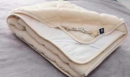 Caro 100% Australian Merino Wool Reversible Mattress Topper Cashmere Wool Underblanket
