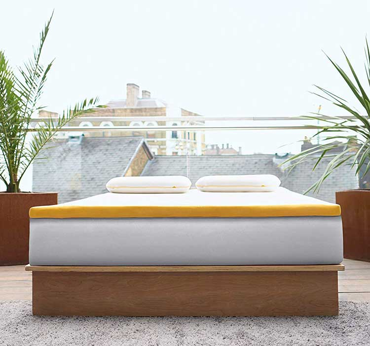 Eve Mattress Topper On Bed