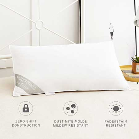Pair of Luxury Goose Feather and Down Hotel Quality Pillows