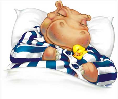 Hippo and Duck Silentnight logo