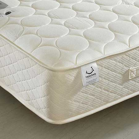 Mirage Spring Quilted Bamboo Fabric Natural Fillings Mattress