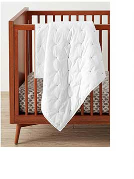 Pottery Barn Kids Organic Washed Cotton Toddler Bed Quilt