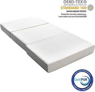 Milliard 15cm Thick Tri Folding Mattress